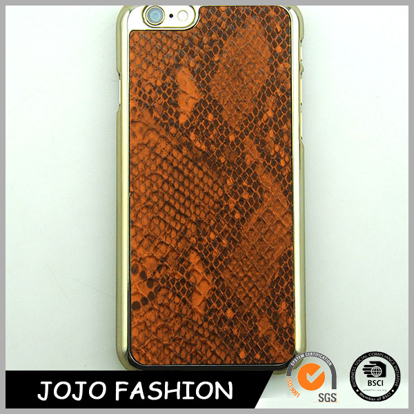 Brown phone case snake skin phone case cover cell phone cover