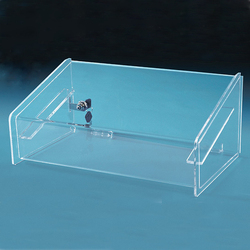 Clear Acrylic Tray Case Lucite Jewelry Display Case