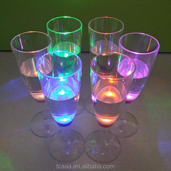 Good quality colorful led flashlight champagne flute