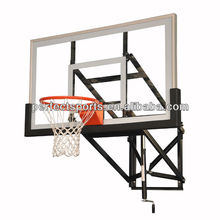 Wall Mounted Height Adjustable Basketball System