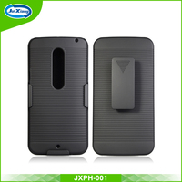 classical design hard plastic stand phone case for Motorola x style/xt 1570 with kickstand & belt clip