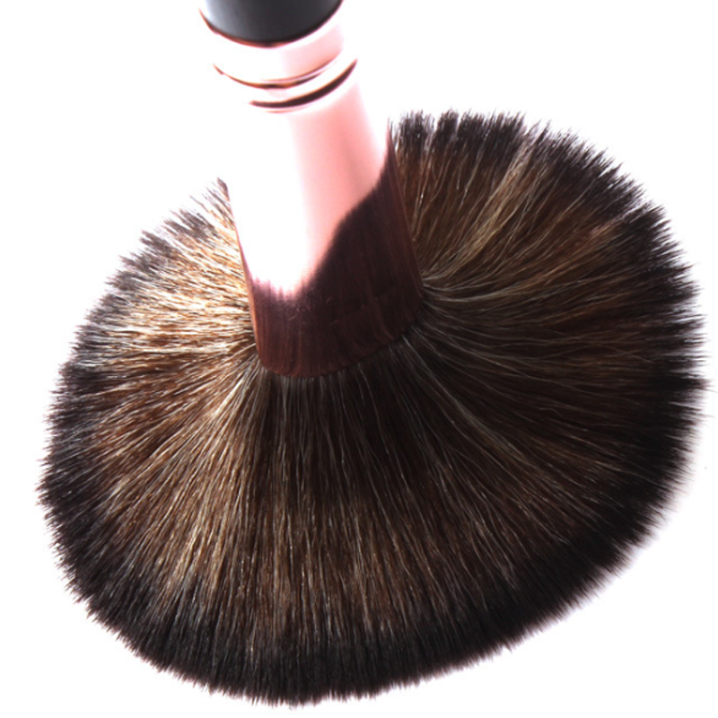 Professional 7pcs makeup brush private label synthetic hair black handle makeup kit with honeycomb bag