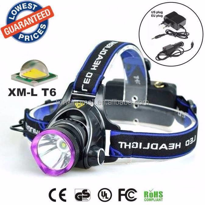 ALONEFIRE HP81 Cree XML T6 <strong>LED</strong> High power climbing Headlight <strong>Headlamps</strong> with Charger/Car Charger for 2x18650 rechargeable battery