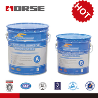 Steel bonded epoxy adhesive for construction reinforcement