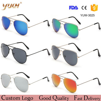 Wholesale cheap fashion aviator sunglasses 2017 women/men classic aviation sun glasses 17 colors available