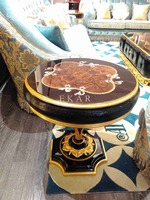 2015 hot sale round low coffee table end table safe