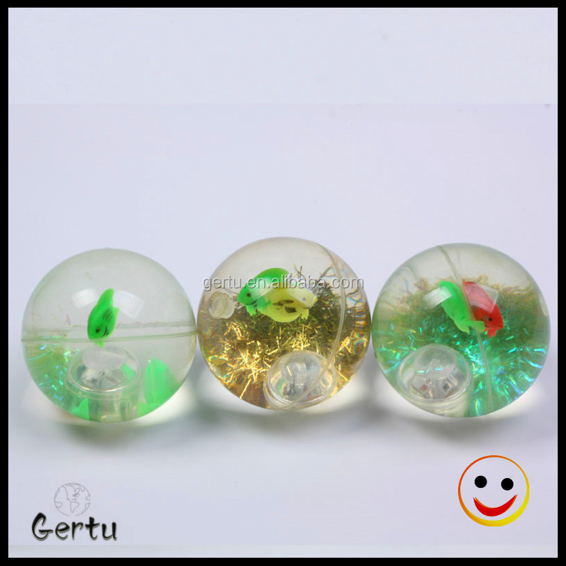 45mm TPU glitter Led bouncy ball