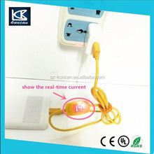 9-36V to 5V 2.1A USB 2.0 adapter flat micro usb data cable with LCD screen to show real-time voltage and current