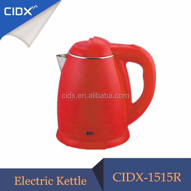 Kitchen <strong>Appliance</strong> Wholesale 1.8L Plastic Colorful Heat Insulated Water Kettle(CIDX-1515R)