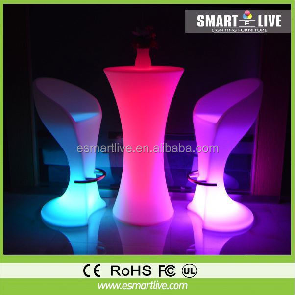 modern design bar table professional cocktail table for party&ktv stylish led round bar table