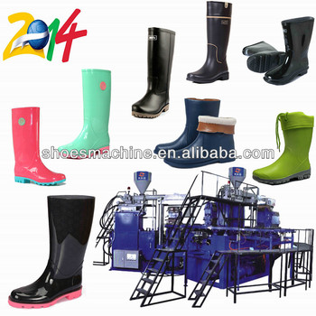 Full-automatic Rotary PVC Rain Boots Making Injection Moulding Machine