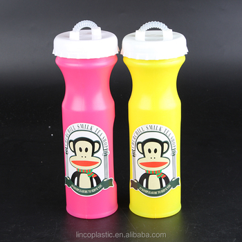 850ml plastic beach straw bottle for children