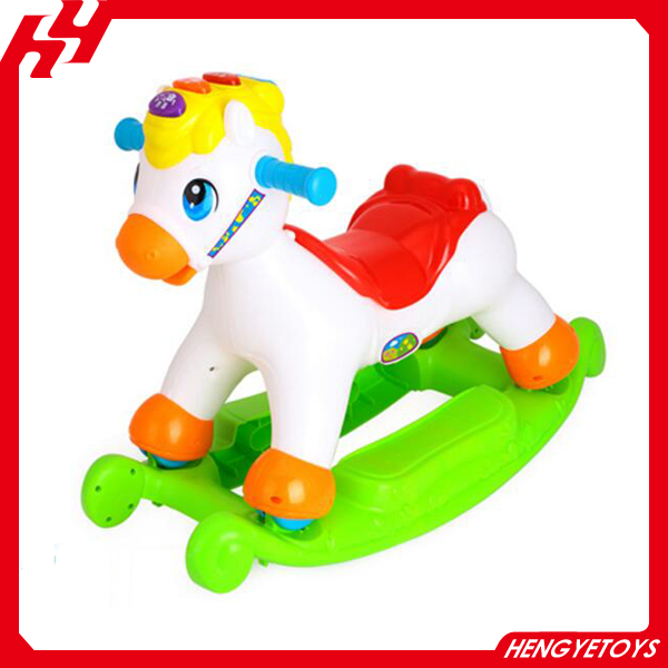 Kid plastic rocking horse toy sliding toys for babies