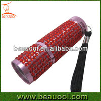 HOT With 9LED Popular Portable Torch Bling LED Flashlight