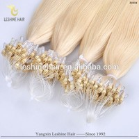 Best Quality Virgin Unprocessed Full Cuticle Micro Loop 100% Human Hair Extension