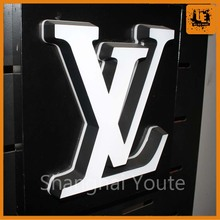 Free design led signboard,custom restaurant signs outdoor light box letters with low price