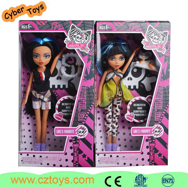 Wholesale fashionable 9 inch vinyl material babie doll for kids playing