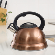 Good quanlity Stainless steel golden color 3L whistling kettle