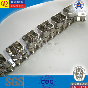 08B-1stainless steel Gripper Chain with Attachments (chrome nickel)
