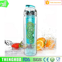 plastic stylish fruit infuser water bottle with filter