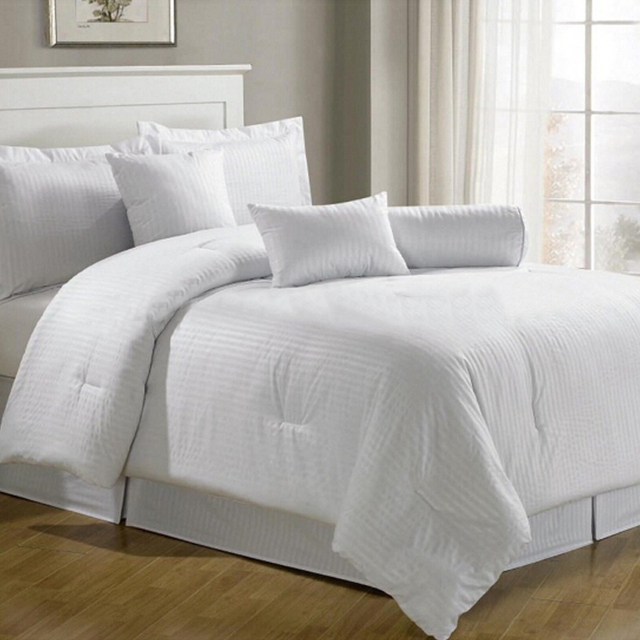 Full size wholesale flat sheet white hotel cotton bed sheets