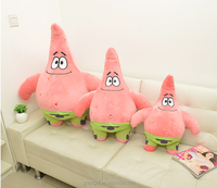 wholesale touch super soft cartoon character Spongebob plush toy party birthday cute gifts promotional stuffed PP cotton
