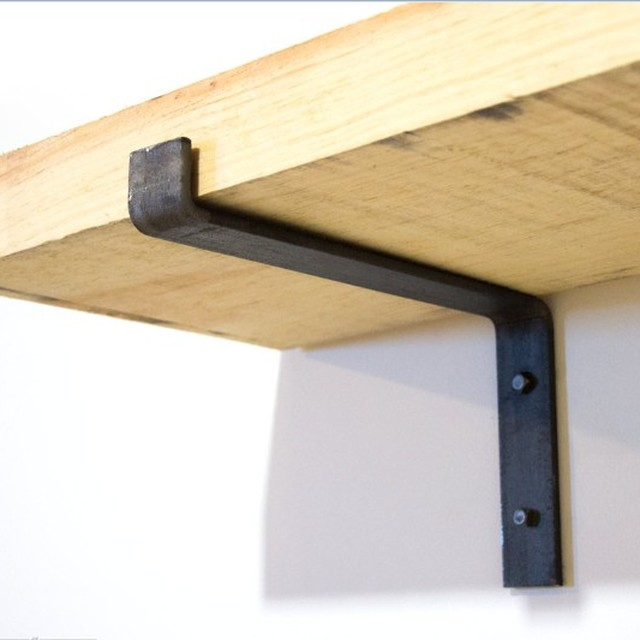 Shelf Brackets Industrial Decorative Wall Lip Brackets Metal Floating Shelf