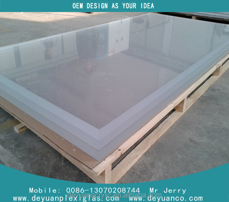 100% virgin material 6mm 4'x8' acrylic plastic sheet