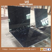 Cheap Black Marquina Marble 12mm High Gloss Laminate Flooring