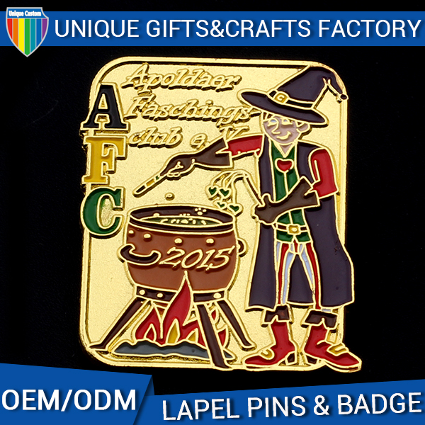 3D stereoscopic Clear and crisp lines Metal material texture strong custom fasching club gold badges