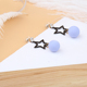 custom 3 gram gold beautiful designed star drop earrings