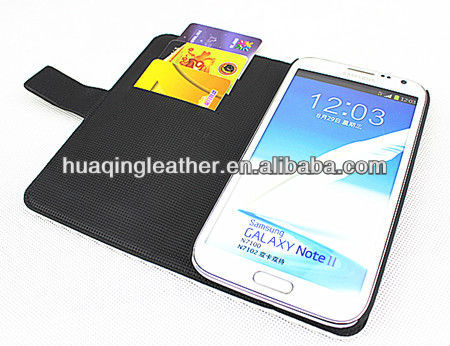 professional design Newest luxury Case for SamSung note2 galaxy note II case galaxy note 2 case N7100 with card holder stand