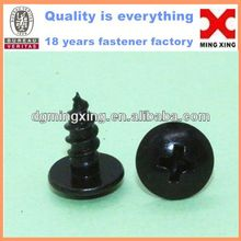 Black Thread Forming Truss Head Tapping Screw for Thermo Plastics