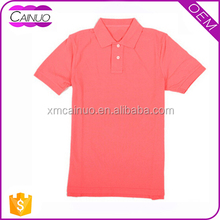 Custom Cotton Pink Embroidered Women Polo T Shirt