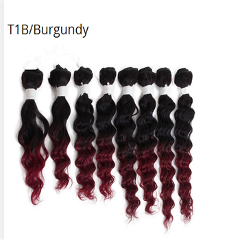 Jerry Curly 8Pieces/lot T1B/BUG afro kinky curly hair tangle free brazilian deep curly hair