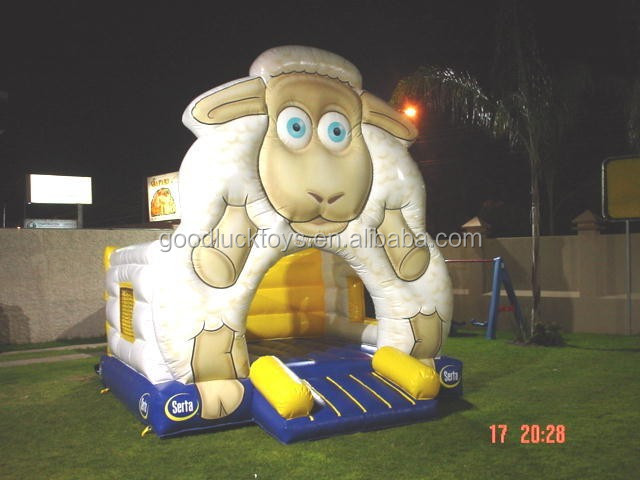 party use sheep jumping bouncer, Inflatable Sheep Bouncer/ animal bouncy castle