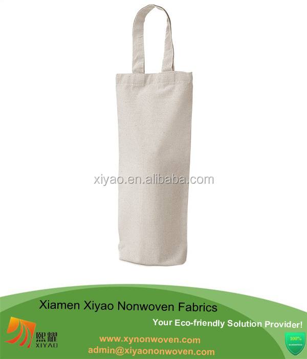 small cotton canvas tote bag wholesale for wine