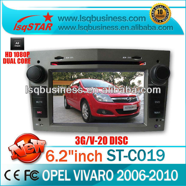 wholesale car DVD player for Opel Vivaro with wifi,3g,bluetooth,phonebook,GPS navigator, 20CDC,PIP,USB cable,IPOD cable,new