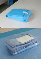 Nonwoven medical safety disposable Cesarean surgical set