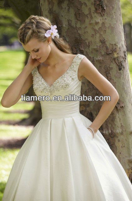 Simple But Elegant Short Country Wedding Dresses Made in China
