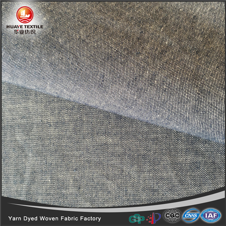 In-stock yarn dyed 100 cotton woven grey fabric for fashion shirt