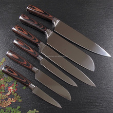 "Grandsharp 3cr13 stainless steel 8"" chef knife with Pakka handle kitchen knife set"