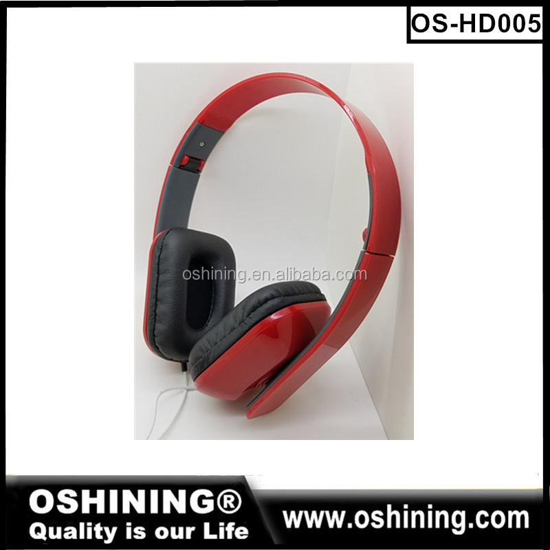 Stereo Wired Custom Folding red headphones promotion cheap headset for mobile phones,mp3,pc, ps4
