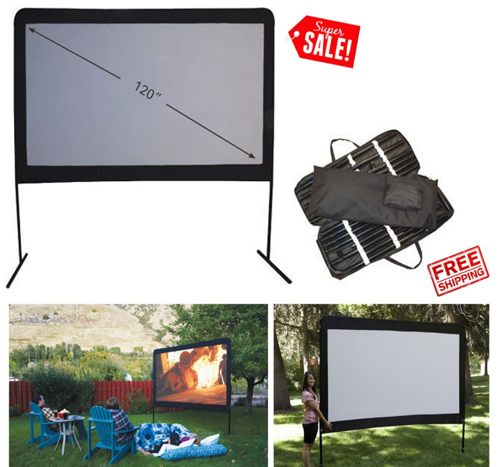Camp Portable Outdoor Movie Screen, 92-Inch