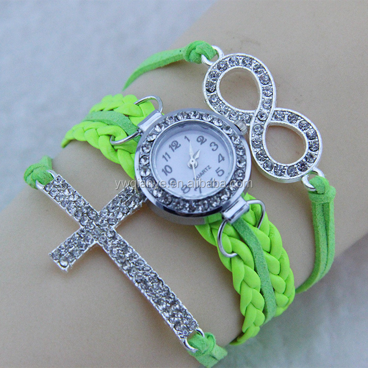 Wholesale fashion vintage retro wrap rope leather bracelet watch