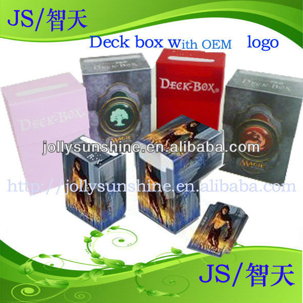 pp boxes, Deck box for game card or plastic card sleeves, Dongguan factory