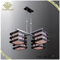 2015 zhong shan factory price glass shades european style wood pendant light