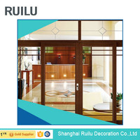 High quality 10 years warranty China supplier soundproof interior door, glass door