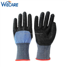Mens Work Cut Resistant Level 5 3/4 Latex Dipped Spearfishing Fish Industry Safe Gloves