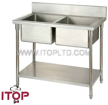 industrial stainless steel hospital sink